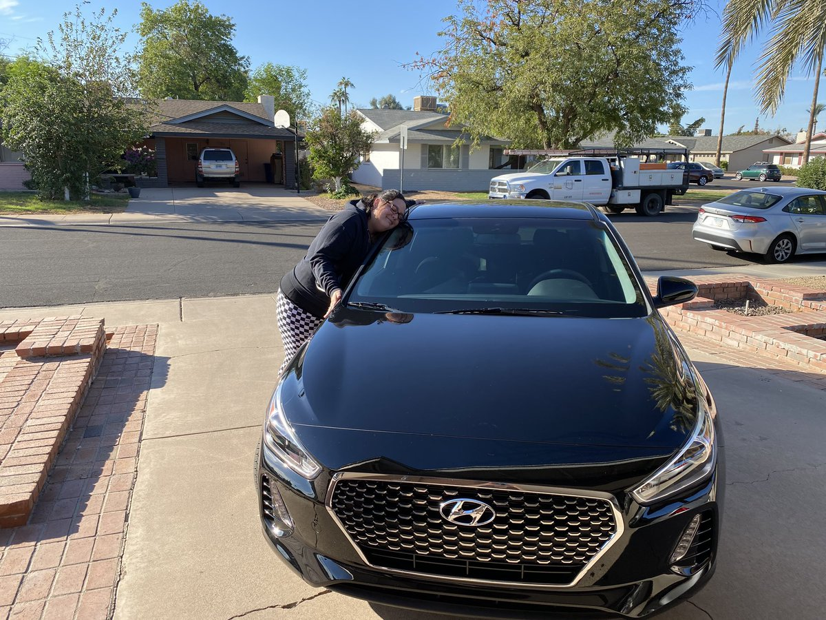 On 10/13, I was T-boned by a giant truck and they totaled my 2018 @Hyundai Elantra GT. That car literally saved my life and so I really wanted the same car. So yesterday, 10/31, I got a new 2020 Hyundai Elantra GT. It's the same car except all black inside. Meet: •Black Beauty•