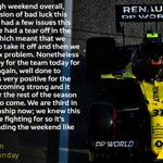 """""""It was a tough weekend overall, with a succession of bad luck this weekend. We are third in the championship now; we knew this is what we are fighting for so it's good to be ending the weekend like this."""" @OconEsteban   👉 https://t.co/NT8WYunz4G  #RSspirit #ImolaGP"""