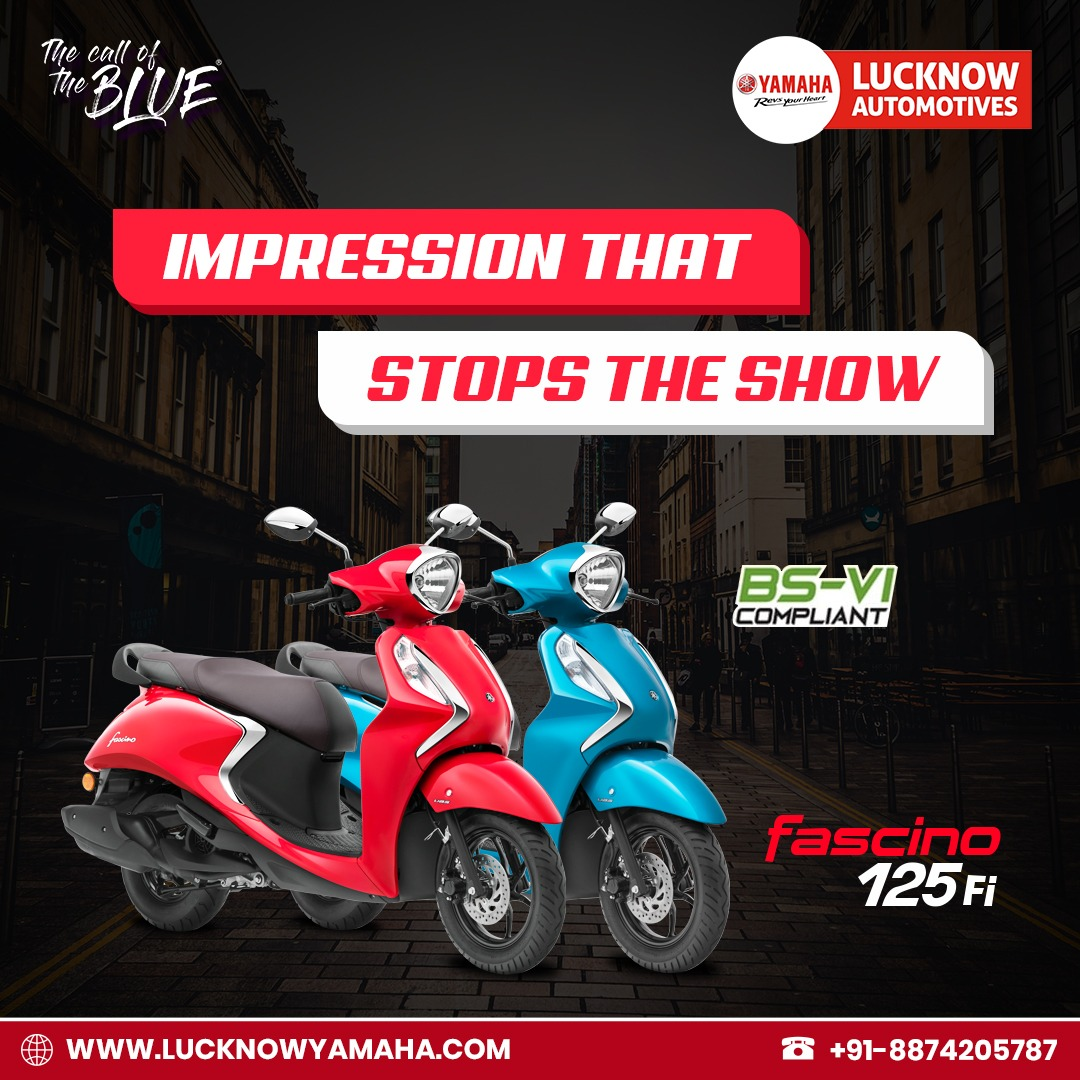 Yamaha Fascino has already won hearts with its unique appearance and slick design. Now with Smart Start and Stop System. Call Us📲:- +91 8874205737 #Lucknow #lucknowbikers #yamaha #MondayMorning #bike
