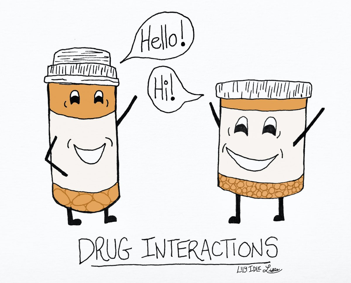 """Lily Idle on Twitter: """"Drug interactions. Coming soon: Positive and  Negative editions.… """""""