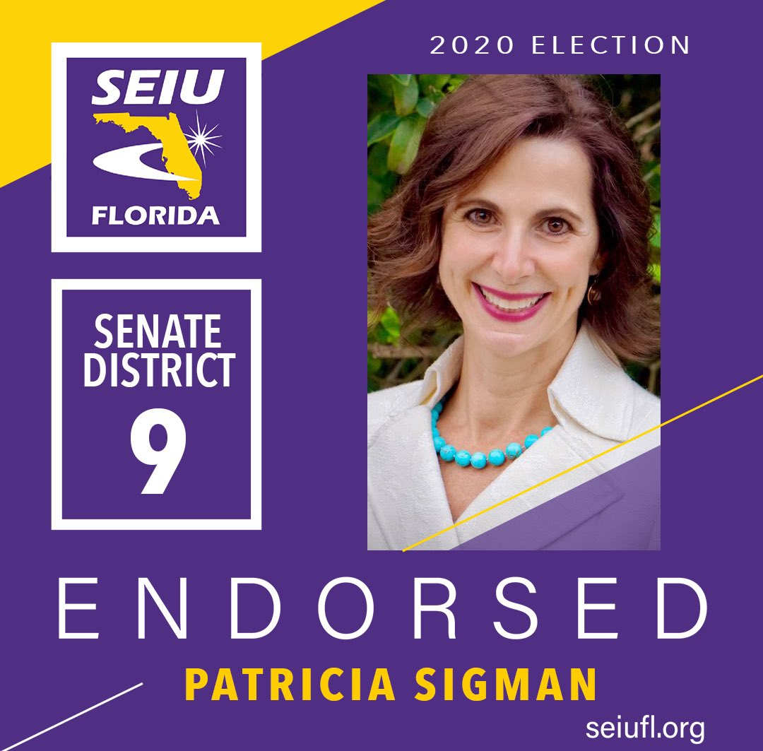 @SigmanForSenate is a dedicated public servant who will help Floridians recover from this health crisis. Vote early & support her. #WeCareWeVote