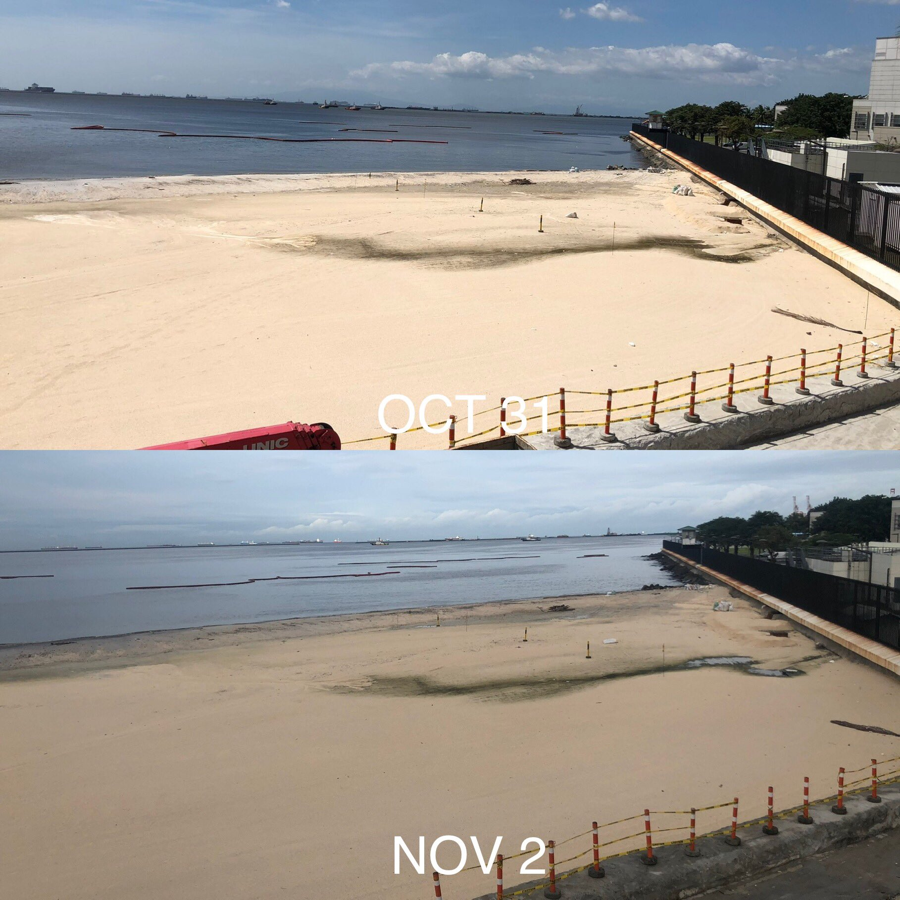 Dolomite After Typhoon Rolly – What Happened To The Artificial Sand?