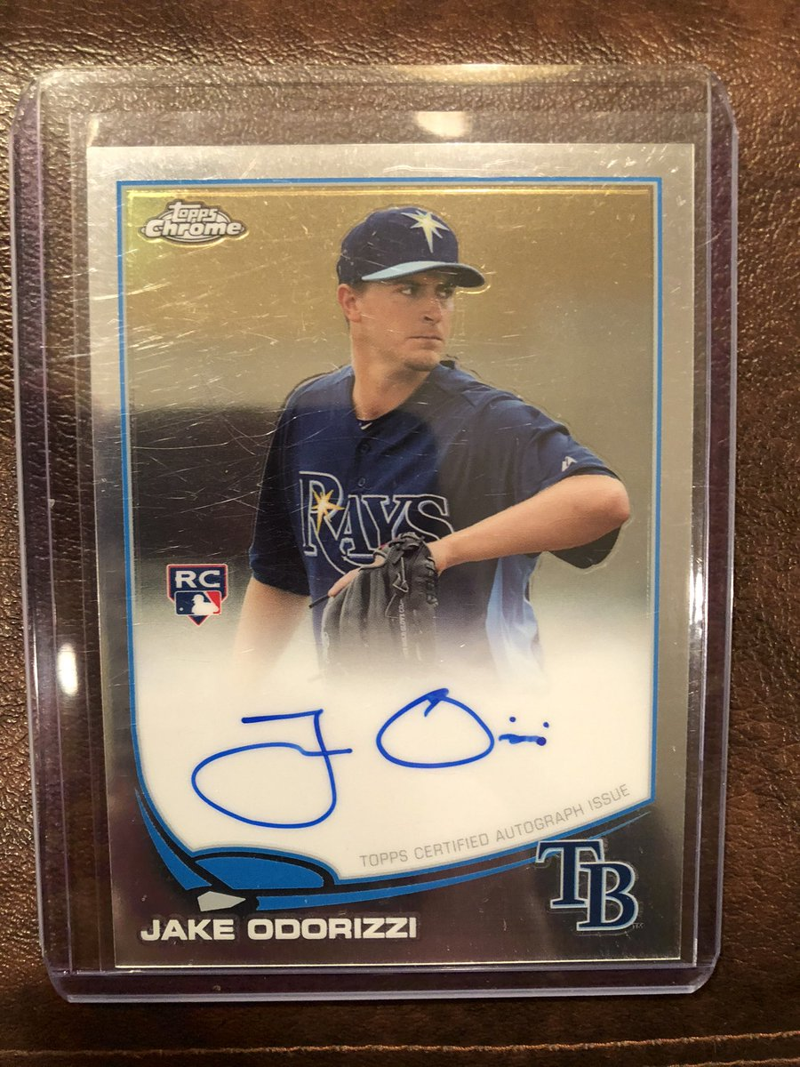Maybe he's back with the #MNTwins, maybe not. Either way it was a good run.  Wish @JakeOdorizzi good luck in free agency!  His 2013 @Topps Chrome rookie autograph could be yours!  RT to enter, must be following to win.