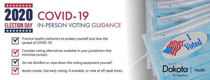 Practice healthy behaviors to protect yourself, consider voting alternatives available in your jurisdiction that minimize contact, do not disinfect or wipe down voting equipment yourself, avoid crowds, use early voting if available or vote at off-peak times
