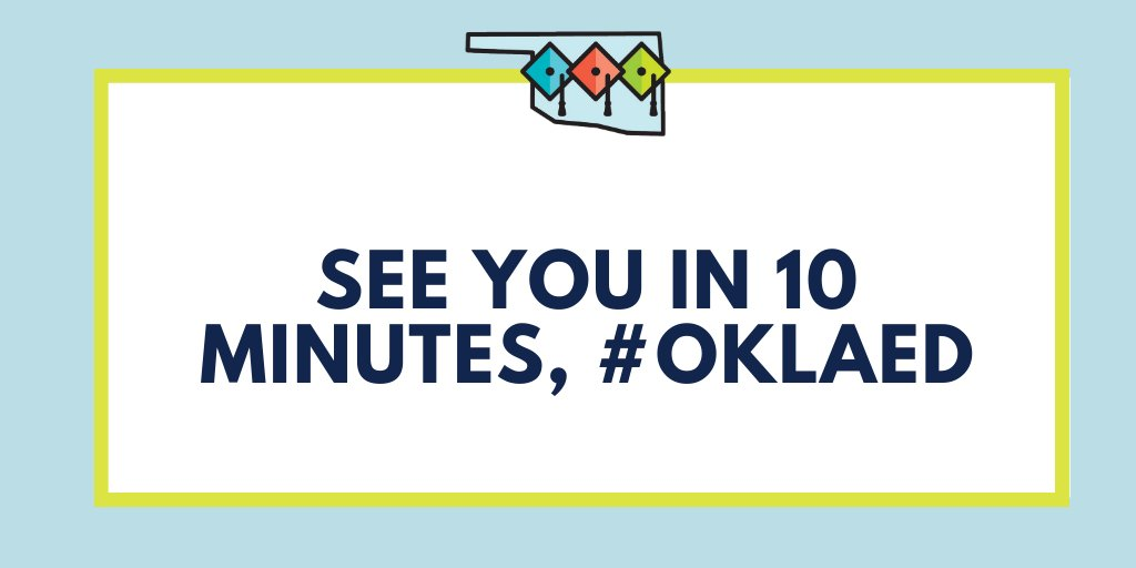 Excited to discuss bringing research to practice with some crowdsourced questions! See you in 10 minutes #oklaed