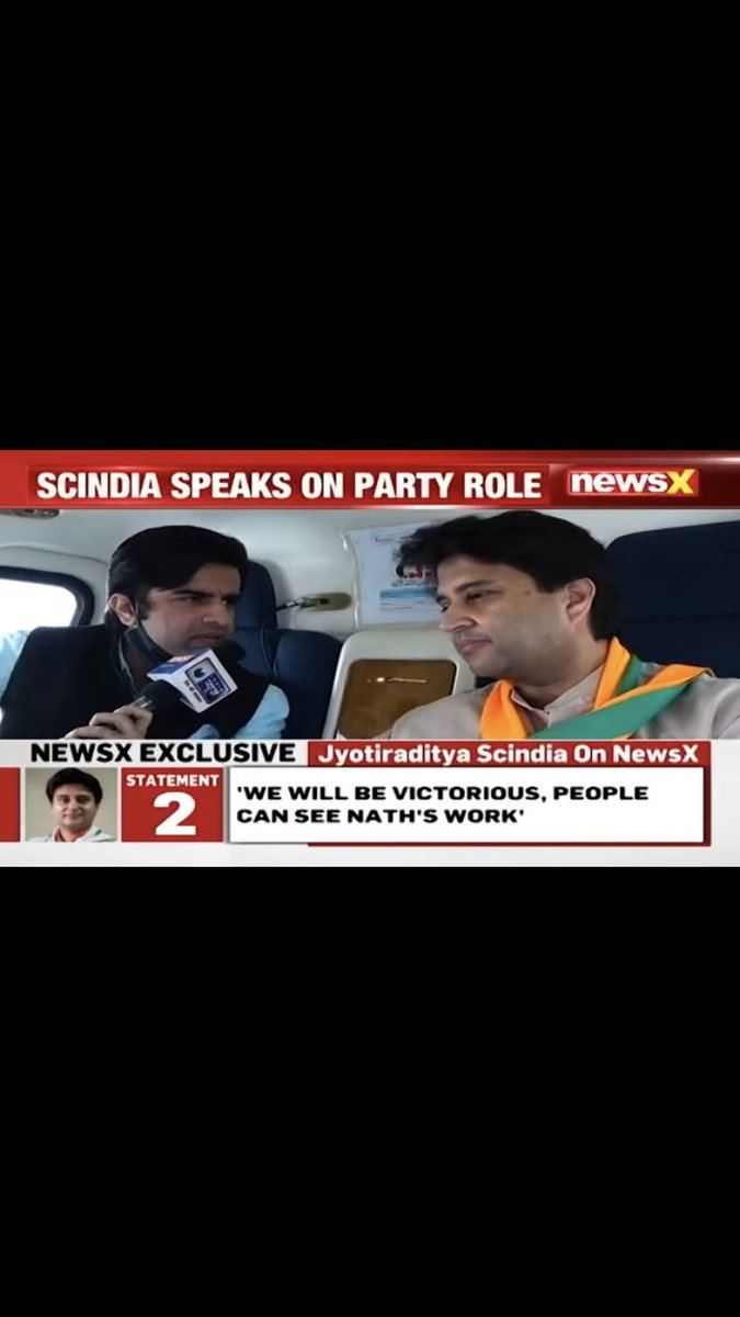On the campaign trail with Jyotiraditya Scindia - BJP Rajya Sabha MP - Decoding the Madhya Pradesh By-Elections   Sharing the @NewsX interview link -     @JM_Scindia @BJP4MP @BJP4India #JyotiradityaScindia #Scindia #MPByelections