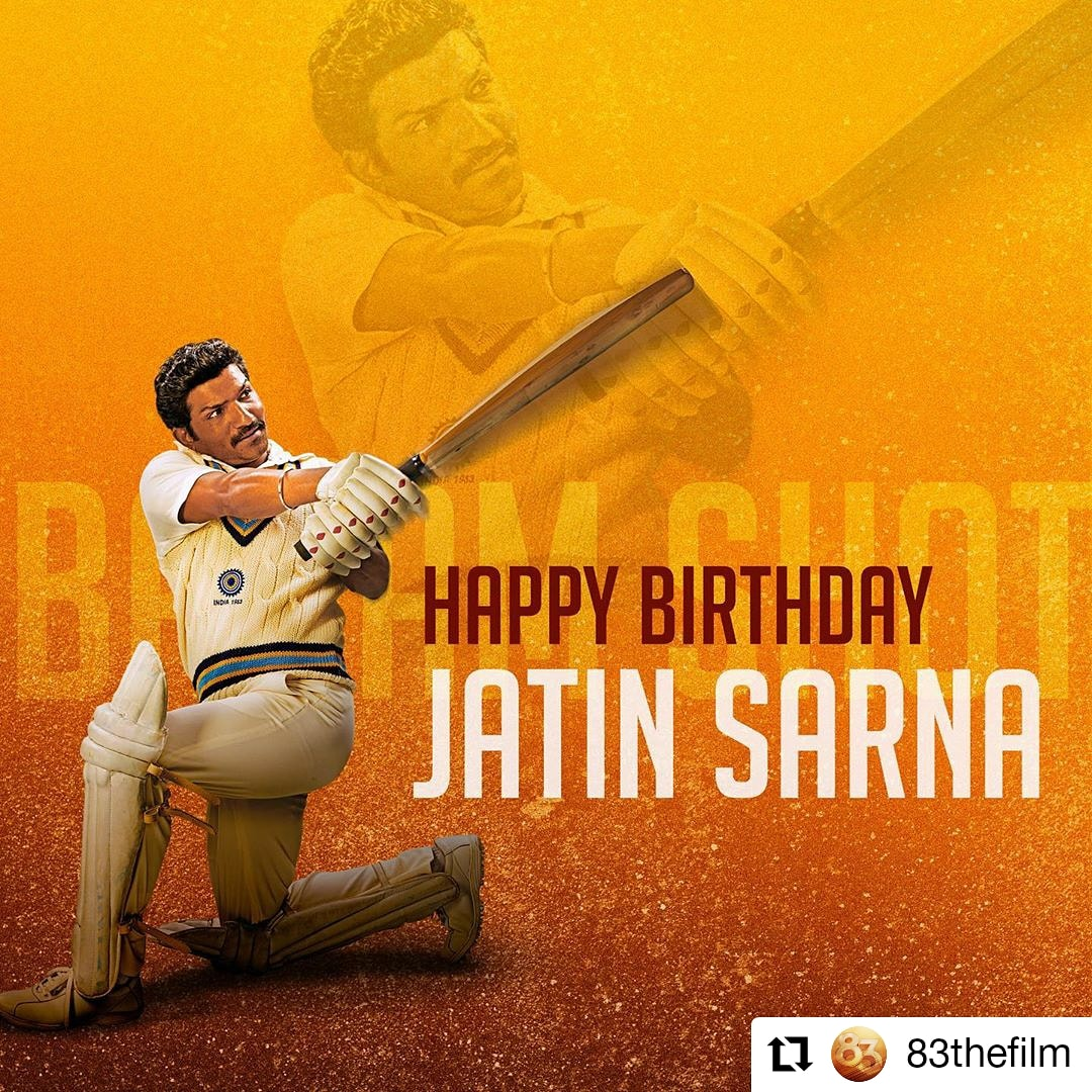 #83thefilm @83thefilm • • • • • • Talent that shines and versatility that inspires. Here's wishing our Reel Yashpal Paaji, @jatinsarna , a very happy birthday. #ThisIs83 #JatinSarna . . . . . . #HappyBirthdayJatinSarna