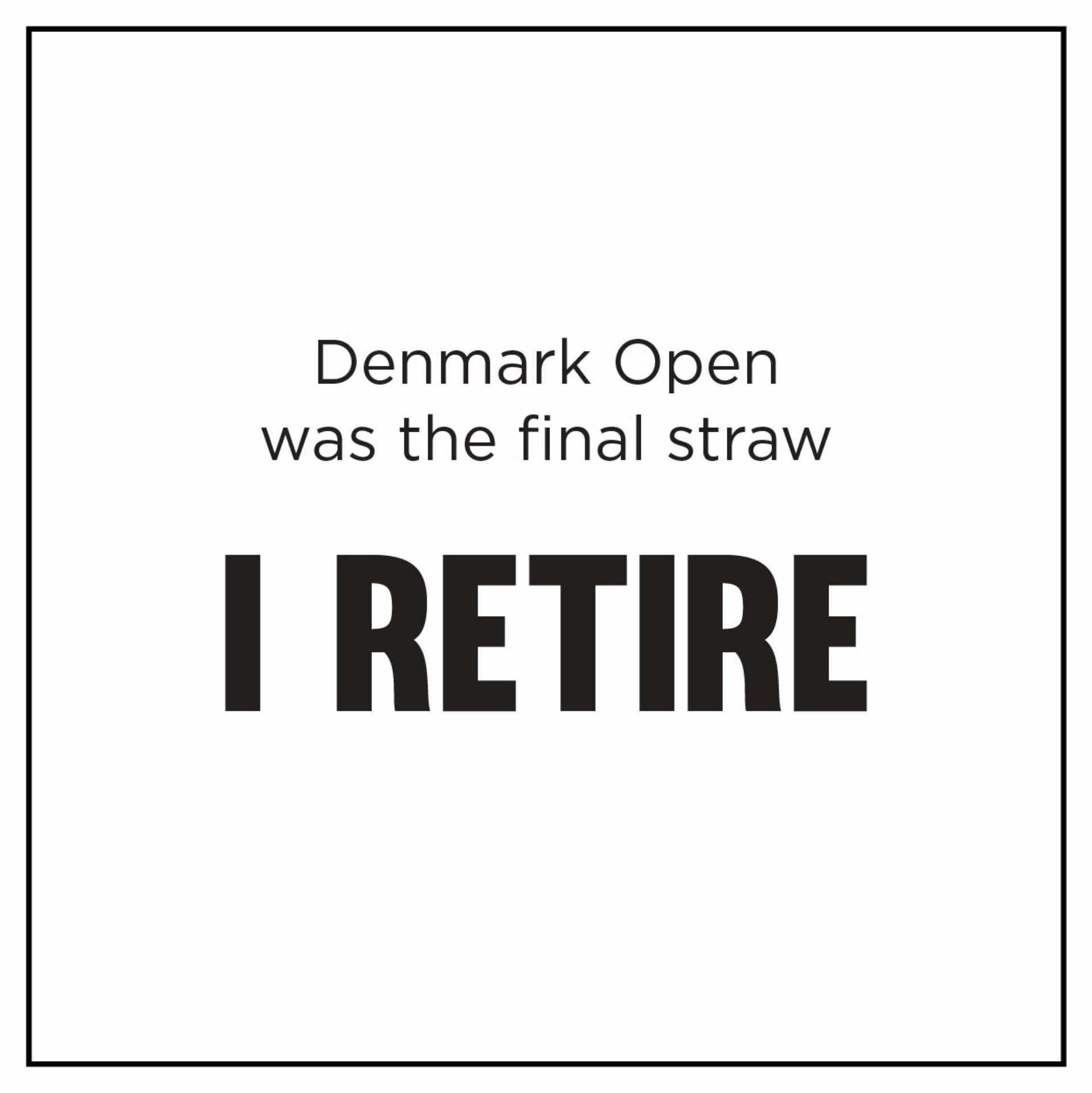 PV Sindhu Retirement? Badminton player PV Sindhu shocked her fans as she wrote 'I retire'. Sindhu wrote Denmark Open was the final straw.