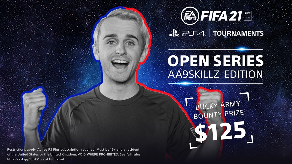 BuckArmy - Win $125 by beating me in FIFA 21 & $500 for beating @aa9skillz in the @PlayStation Open Series AA9Skillz Edition!  Link to sign up throughout November:  #ad