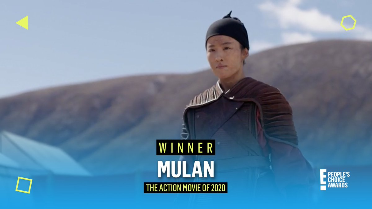 Thank you for voting Disney's #Mulan as the #TheActionMovie of 2020! #PCAs