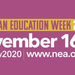Join us in celebrating American Education week. Thank you to all the hard working educators who inspire and guide our students to a brighter future. #aew2020