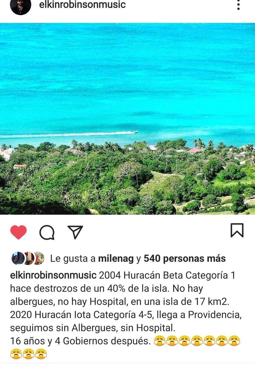 Que la tragedia del huracán sirva para volver al archipiélago de San Andrés parte de las cosas por las que el gobierno de @IvanDuque tiene que trabajar. Acá la palabras sabias de uno de los más talentosos nativos de Providencia que grita atención por su pueblo @ElkinRobinson