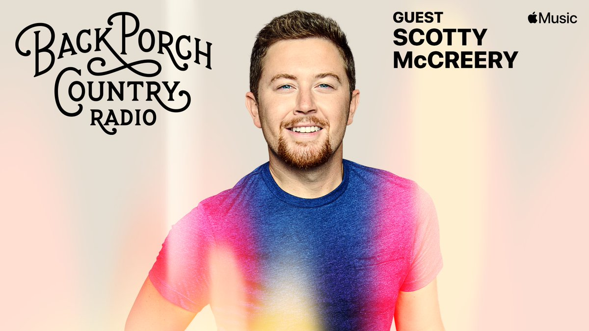 Gonna be fun, @ScottyMcCreery is on the porch this week! Join us Back Porch Country radio @applemusic today 6p (CT) #applemusic #backporchcountry #countrymusic #scottymccreery #applemusiccountry
