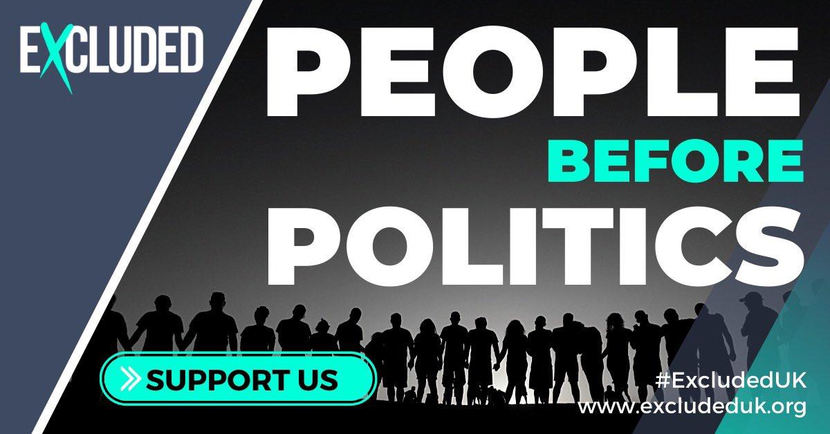 Reminder of the #peoplebeforepolitics Twitter Bomb tomorrow night 7.30-8.30pm. Please retweet and let's make this the biggest one ever! #ExcludedUK @MetroMayorSteve @AndyBurnhamGM @SadiqKhan