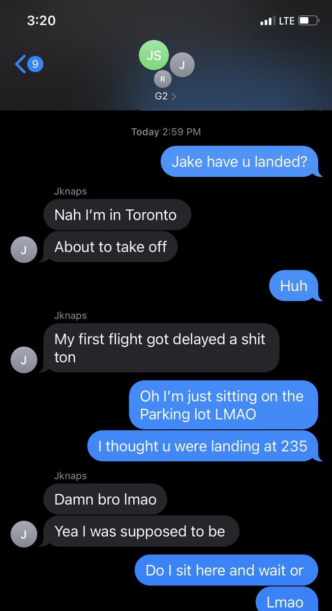 """Chicago - Me hitting @JKnaps with the """"yo have u landed"""" and he hits me with """"nah I'm still Toronto"""" cmon MAANNNNN"""