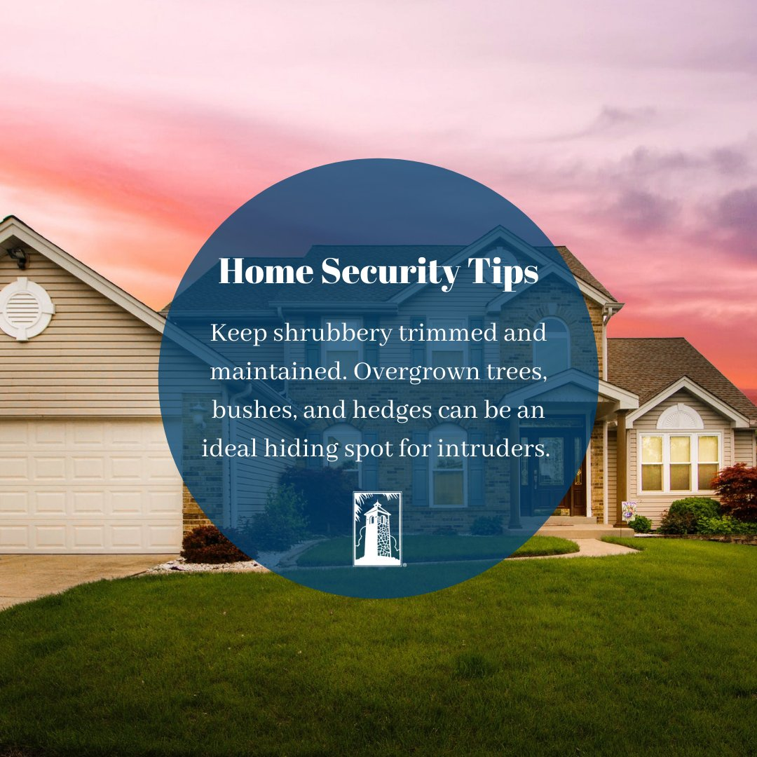 Keep shrubbery trimmed and maintained. Overgrown vegetation can be an ideal hiding spot for intruders. 🏡 https://t.co/kEvWZaY9Ih
