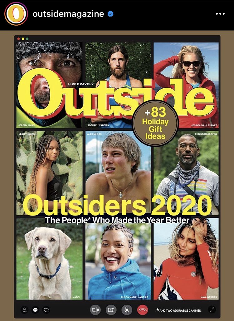 The December cover of @outsidemagazine. Mabel clearly has a better agent than Olive.