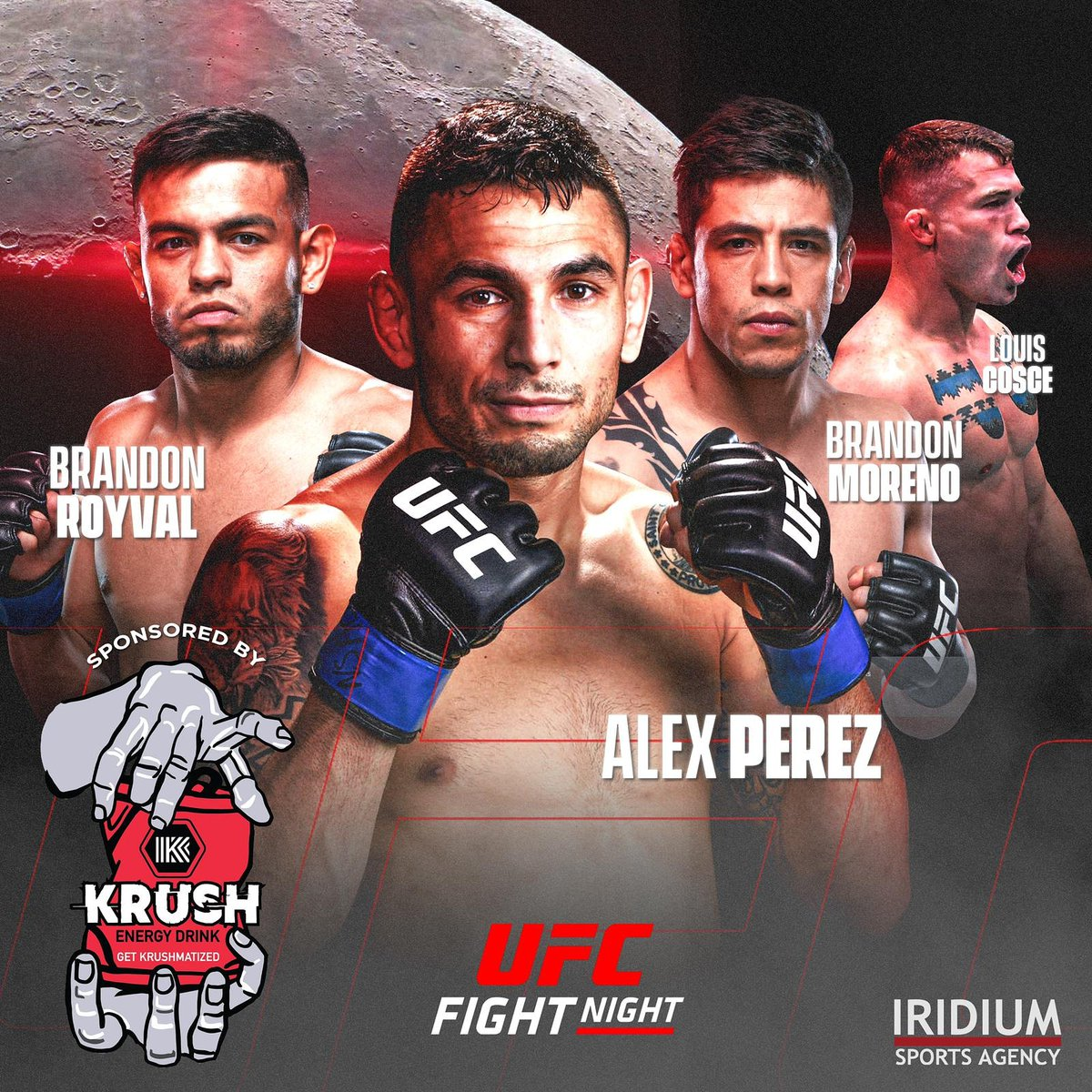 🚨 #TeamIridium monsters @louiscosce707, @theassassinbaby, @alexperezMMA & @brandonroyval enter the @ufc's Octagon at #UFC255 😈 #TheDarkside https://t.co/YdzTNaYVv0