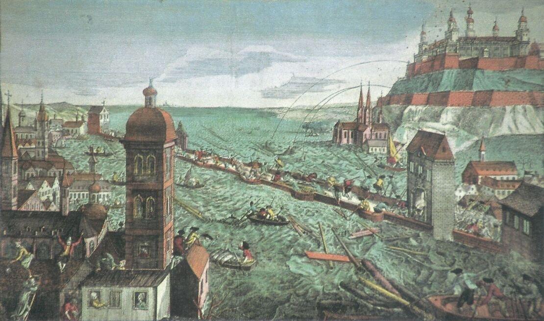 Na jaře 1784 se rozvodnila i řeka Mohan v německém městě Würzburg, rozsah zkázy je zachycen na dobovém obrazu. Umělecká díla s tématikou záplav jsou v tomto roce napříč Evropou častá. Spekuluje se, že erupce Laki se podepsala i na vzhledu dalších děl. Řada maleb z roku 1783 například zachycuje neobvykle barevné západy Slunce.
