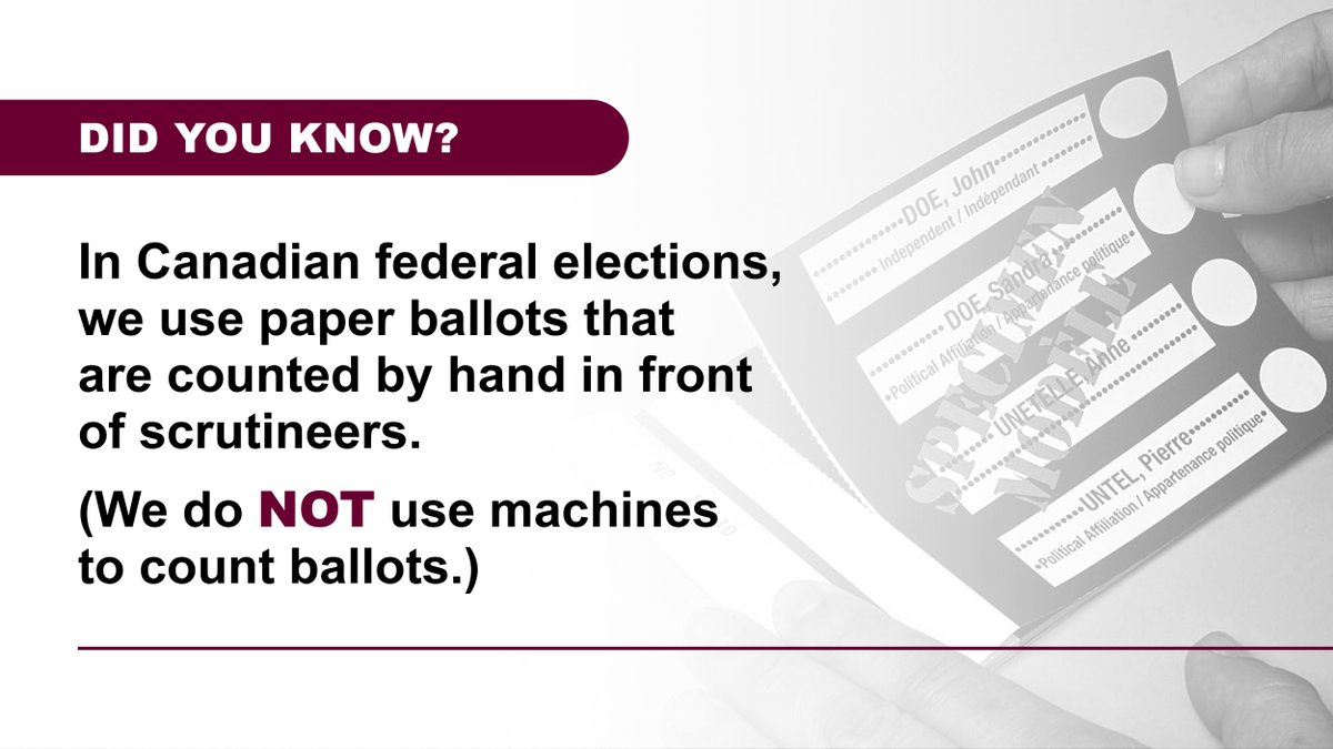 """Elections Canada on Twitter: """"Elections Canada does not use ..."""