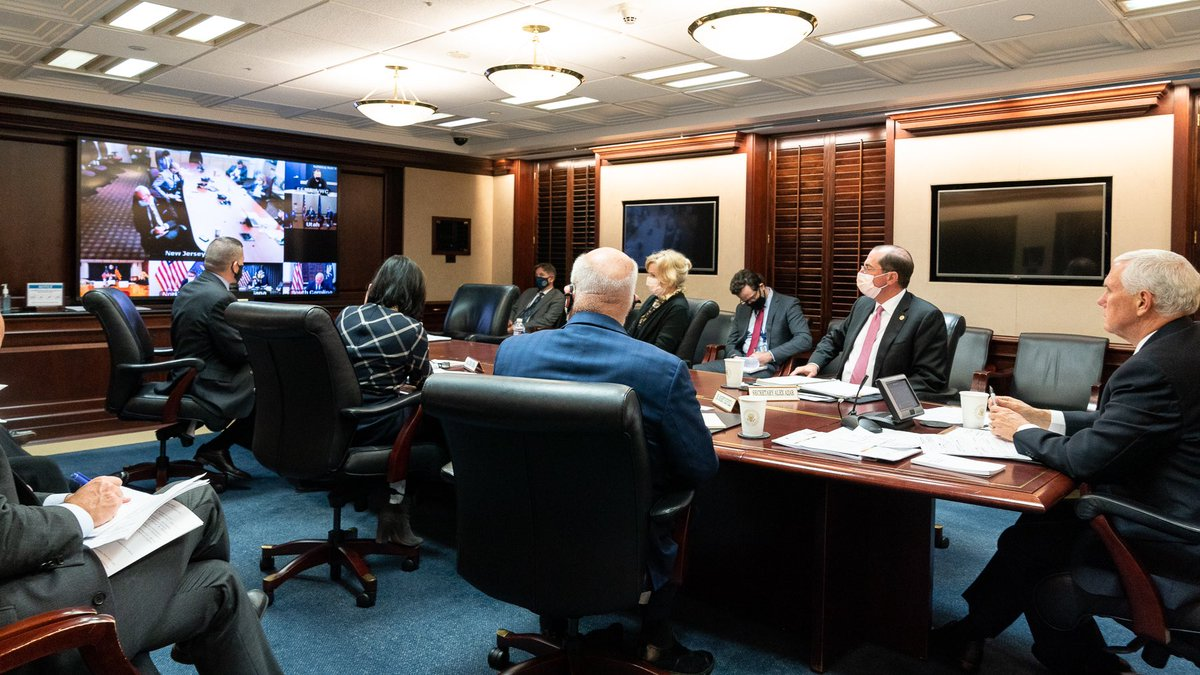 .@WhiteHouse Coronavirus Task Force had a 2+ hour call with Governors to review vaccine distribution plans after 2 HUGE announcements from Moderna & Pfizer. Under President Trump's leadership, we're ensuring every state has what they need to deliver a vaccine to every American!