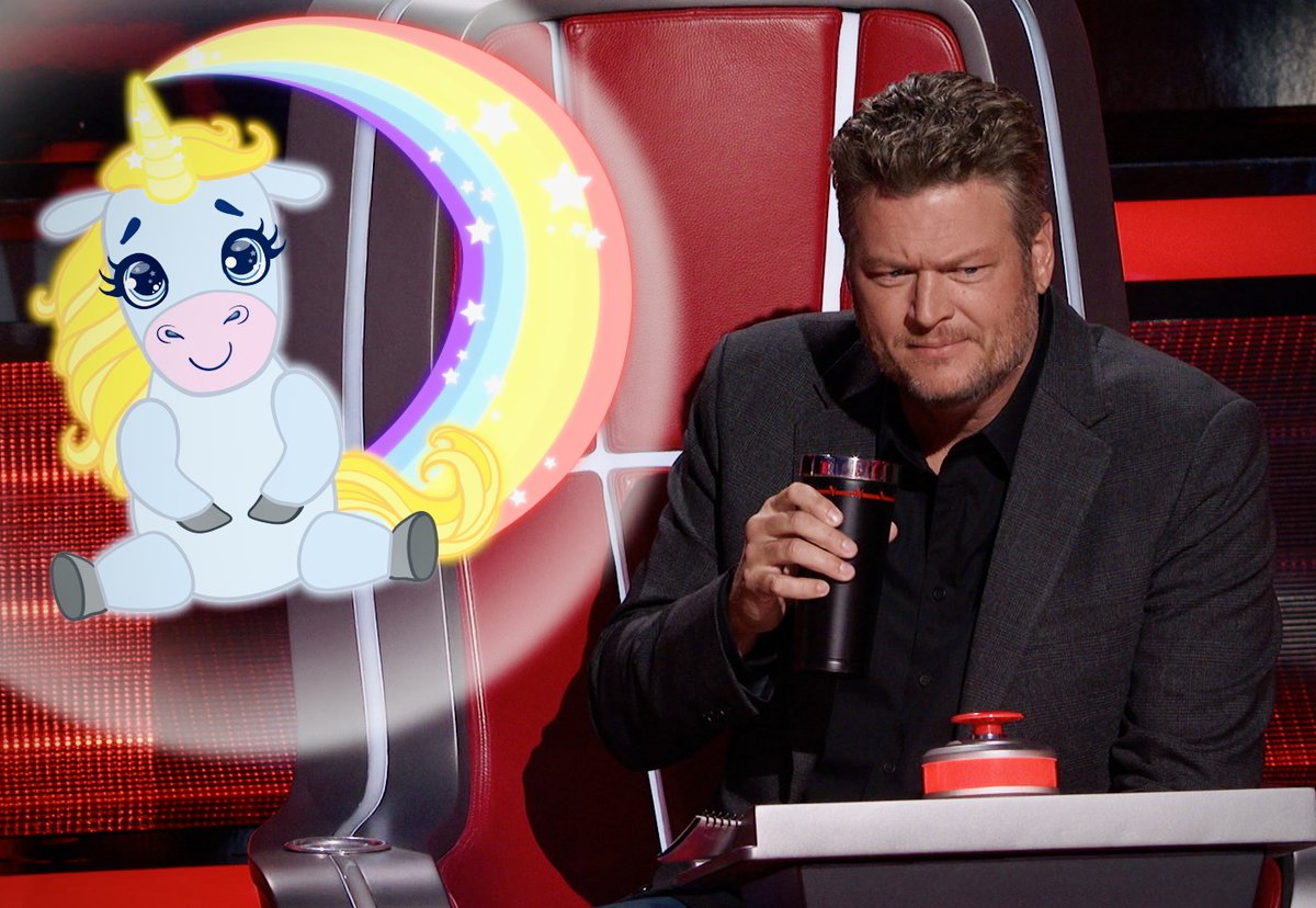 What do y'all think? Are you Team Unicorn or Team Unihorn? 🤔 #TeamBlake #TheVoice