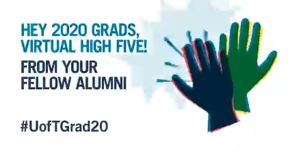 #UofTGrad20, you did it – high five! 🙌  Update your email for info on the lifelong perks and benefits that come with joining the @UofT alumni community. You'll also get a chance to win a pair of AirPods:  #UofTalumni