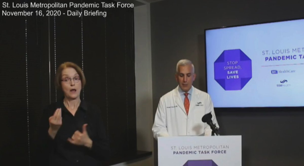 """Head of the STL Pandemic Task Force Dr. Garza urged @GovParsonMO again today for a statewide mask mandate.  """"Everyday that goes by without a mask-mandate, we are giving the virus the opportunity to spread and setting ourselves for a longer and more severe crisis."""" #moleg. https://t.co/L8jGf6jDs3"""