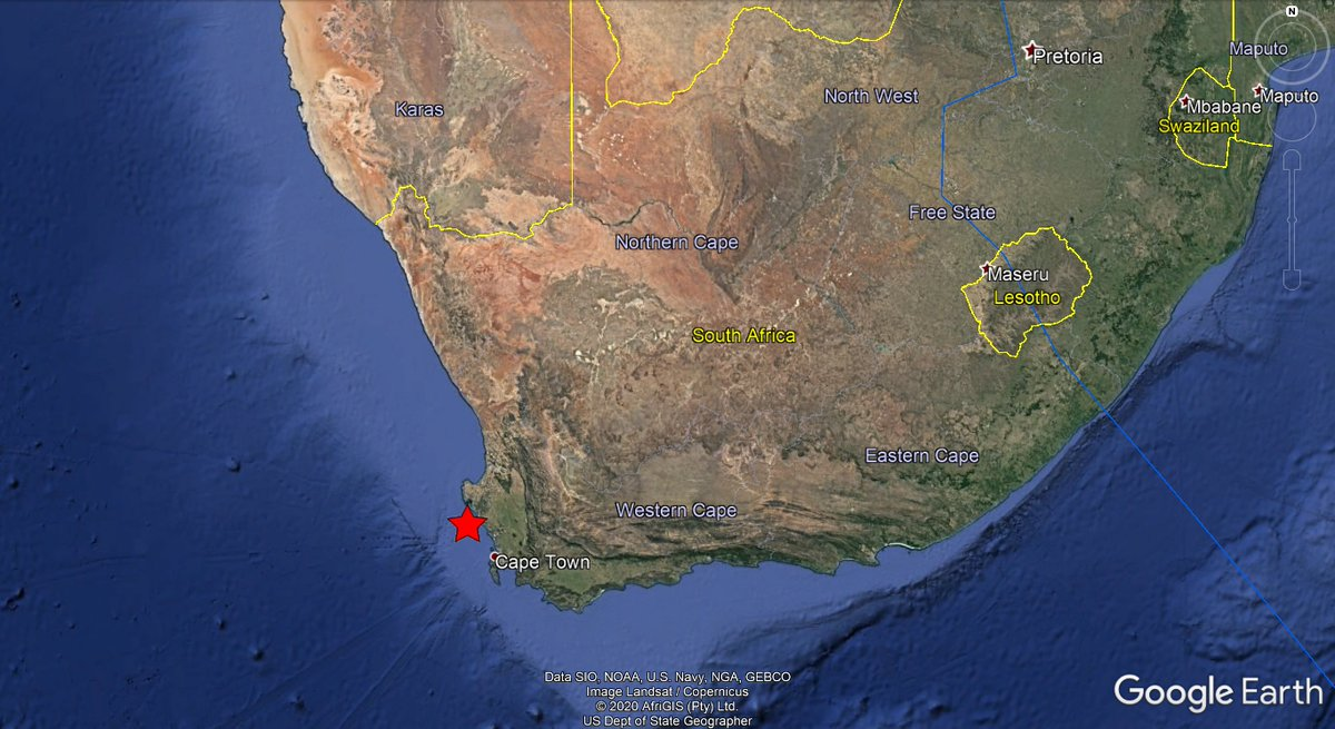 ⚠️#SouthAfrica🇿🇦: A weak #earthquake of magnitude mbLg=3.5, was registered at 75 KM NW of #CapeTown, province of #WesternCape. Depth: 5 KM. More info: https://t.co/ybtiBmuRG0 Did you feel this earthquake?, Tell us!. #EQVT,#aardbewing,#tremor,#seísmo,#sismo,#temblor,#terremoto. https://t.co/teFLjRYPWJ