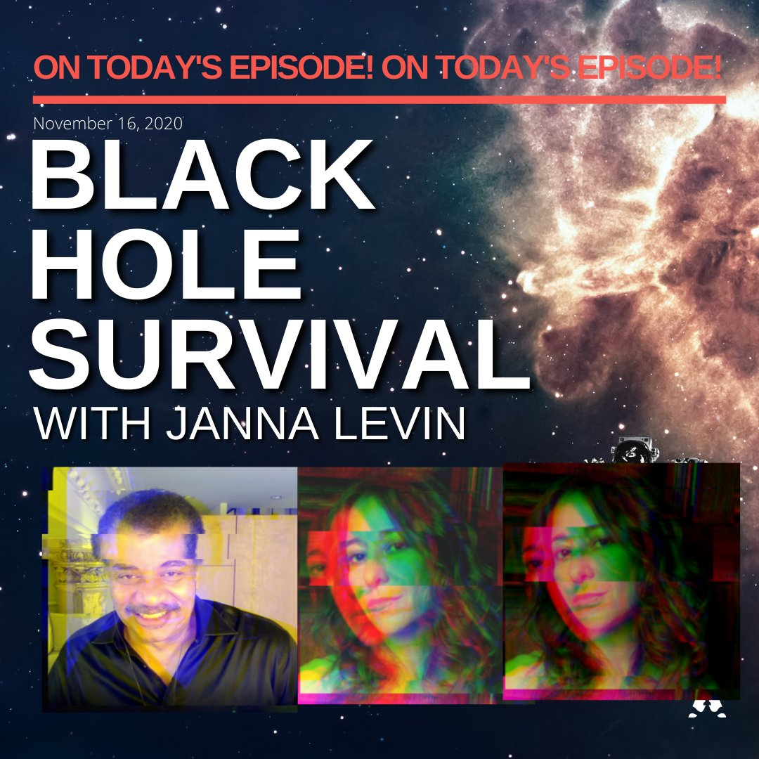Because 2020 has felt impossible to escape, almost like a black hole, we figured it only made sense to bring you a Black Hole Survival Guide from THE @JannaLevin.  Listen to the new episode with @neiltyson wherever you get your podcasts now!