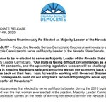 Image for the Tweet beginning: .@Nicole4Nevada has been unanimously re-elected