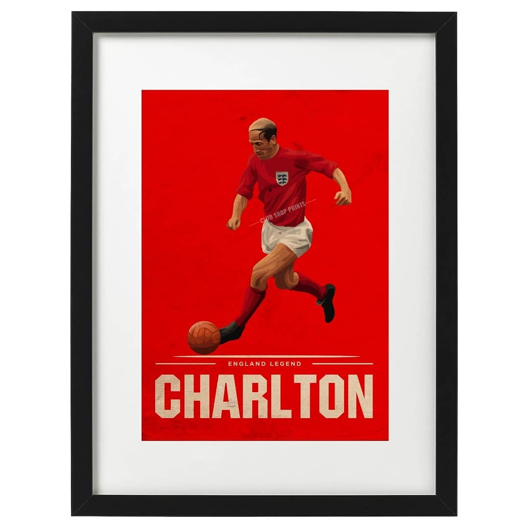 🏴󠁧󠁢󠁥󠁮󠁧󠁿 Bobby Charlton and 🇧🇷 Pele art prints available now. Free UK delivery. Link in bio 👆 #footballart #etsy #etsyshop #bobbycharlton #pele #pele80 #england #brazil #RetroFootball