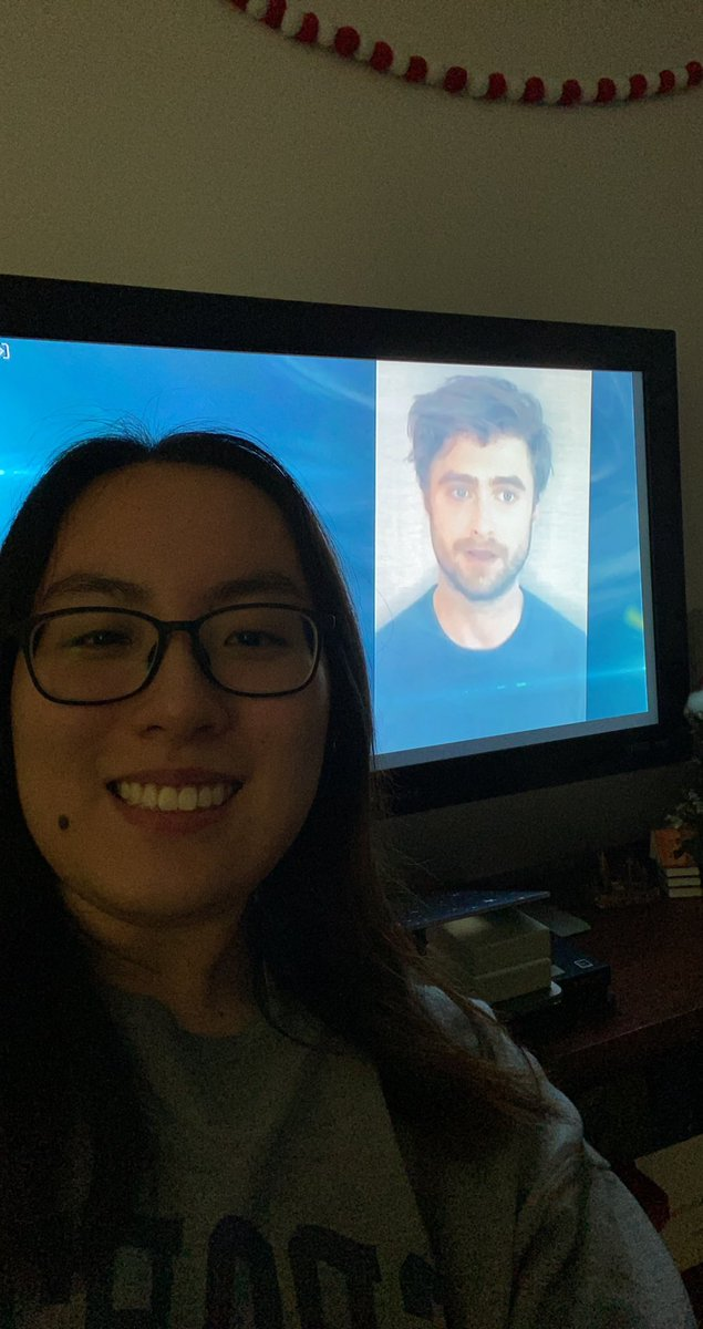 Got a picture with #DanielRadcliffe ❤️ closest I'll ever get to meeting him. Maybe some day!!