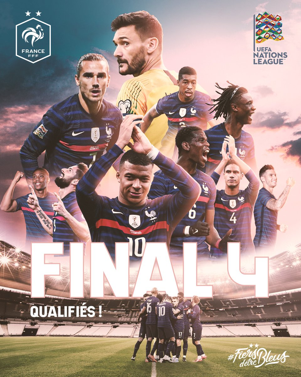 "Les Bleus s'imposent 1-0 face au Portugal et se qualifient pour le ""FINAL 4"" de l'UEFA Nations League ! 🇫🇷🙌 #FiersdetreBleus"