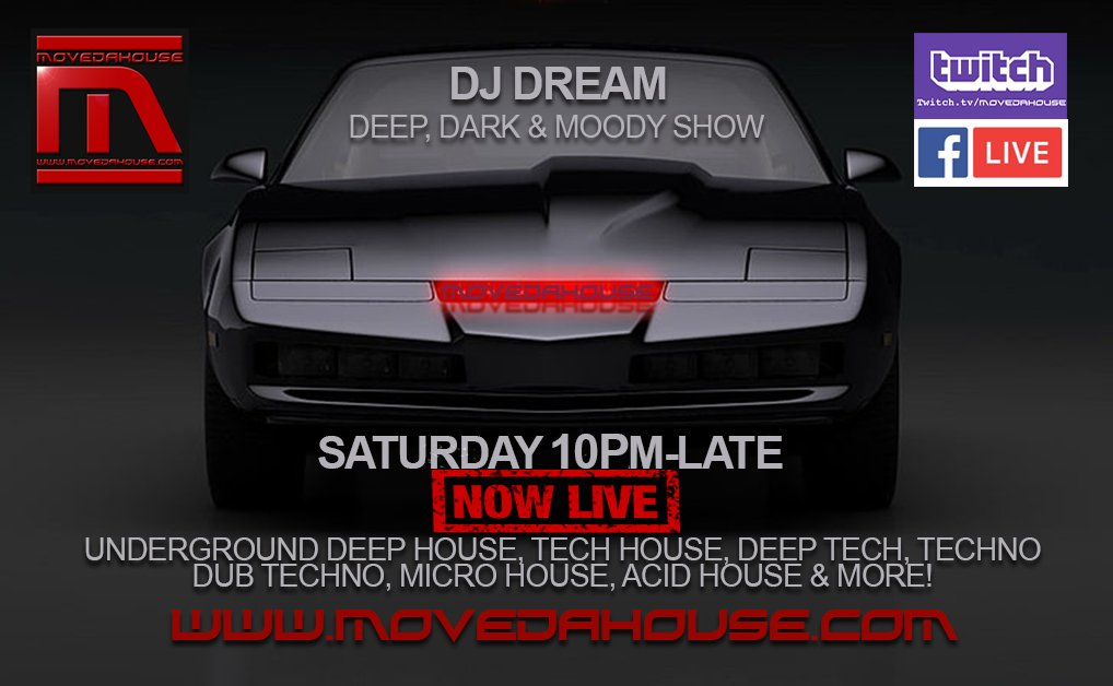 #NowPlaying #livestreaming #radioshow 10pm-Late #UK #DJ Dream #inthemix #playing #HouseMusic #deephousemusic #deephouse #TechHouse #techno #deeptech #microhouse #dubtechno #ACIDHOUSE #worldwide #internetradio #MoveDaHouse #listen #watch #chat website:https://t.co/616h5fx4QT https://t.co/UXAGJFlkVq