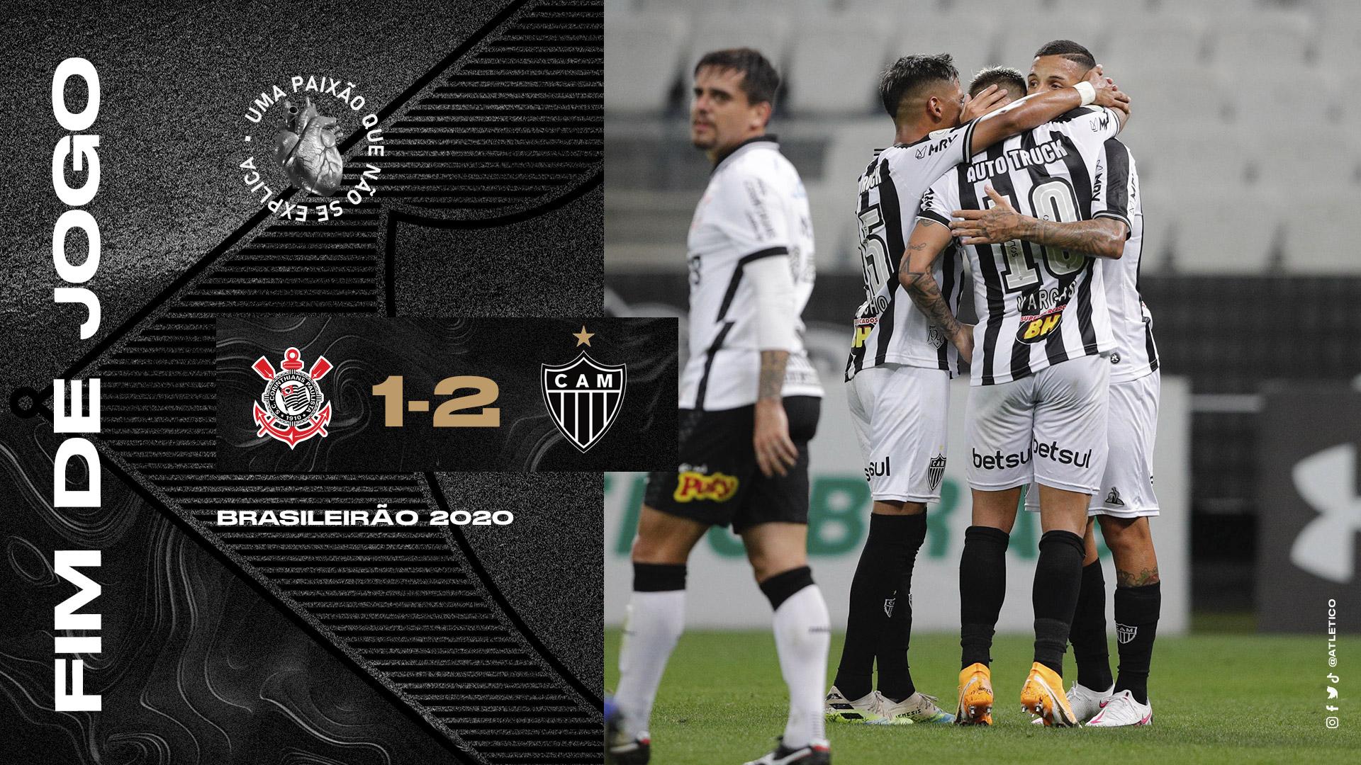 Corinthians 1x2 Atlético-MG Brasileirão 2020