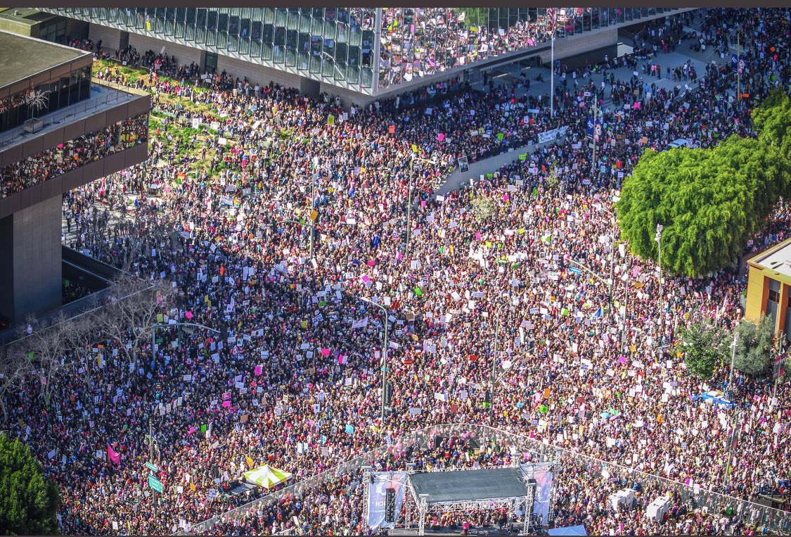 Look at all the folks who came out for the #millionmagamarch.....Oh wait that's the #WomensMarch https://t.co/p59tvXFP2M