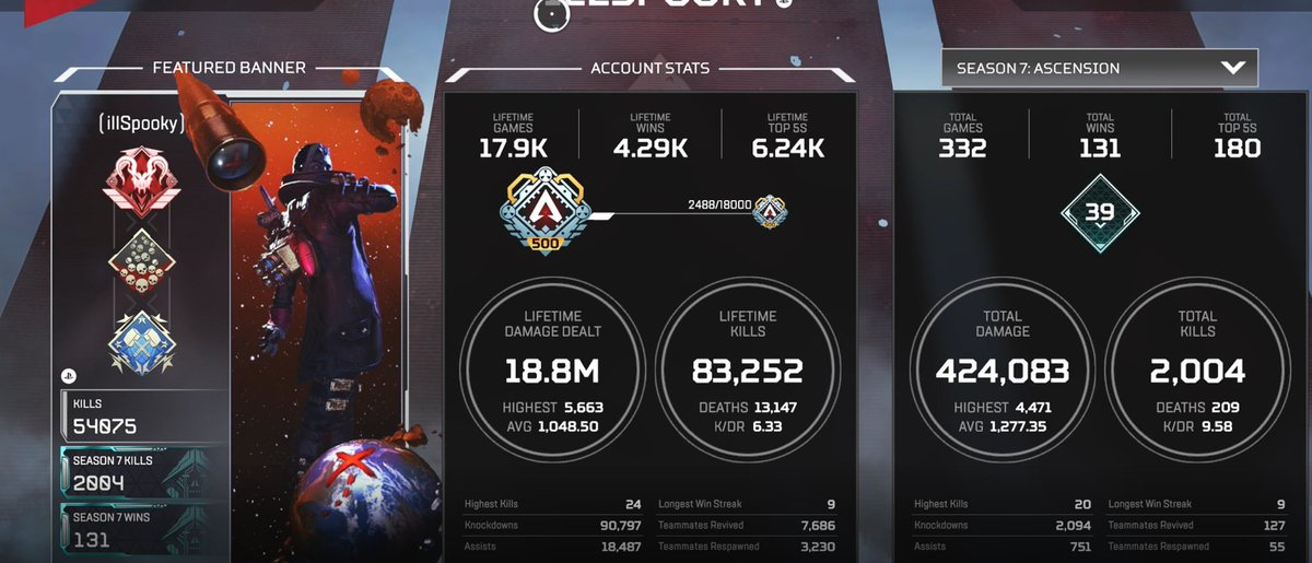 illSpooky - Only 2,000 Season 7 kills🧛‍♂️ Need more.