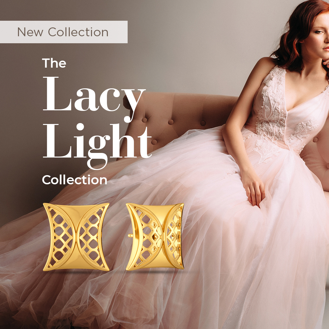 Introducing #NewCollection - The Lacy Light Collection!  Inspired by the tulle trend, here's a range in gold with cutwork patterns for a free-flowing casual look >    #Melorra #EverydayFineJewellery #LacyLightCollection  #AW20 #TrendInspired #Tulle