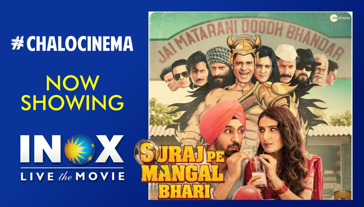 This year has not been an ordinary one but extraordinary moves can still make it special!  Thank you @punitgoenka for making #SurajPeMangalBhari the 1st Bollywood release after lockdown.  Your support to the industry will be remembered for a long time! #ChaloCinema  #HappyDiwali