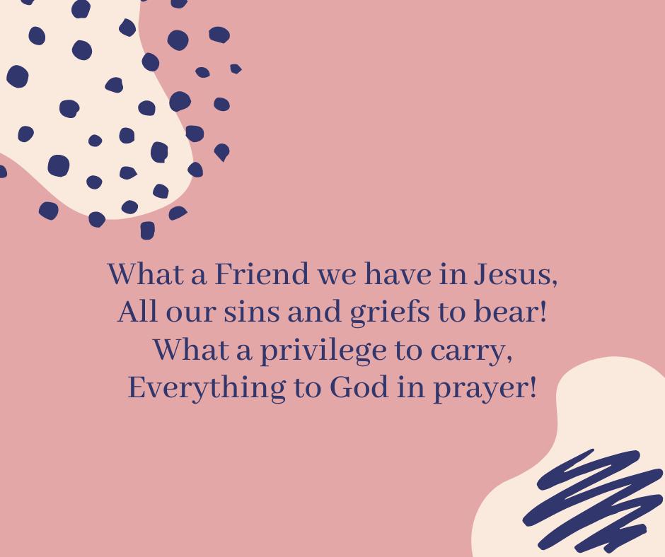 #SundayHymn words from Joseph Medlicott Scriven.  #PrayForTheNation #EverydayPrayer