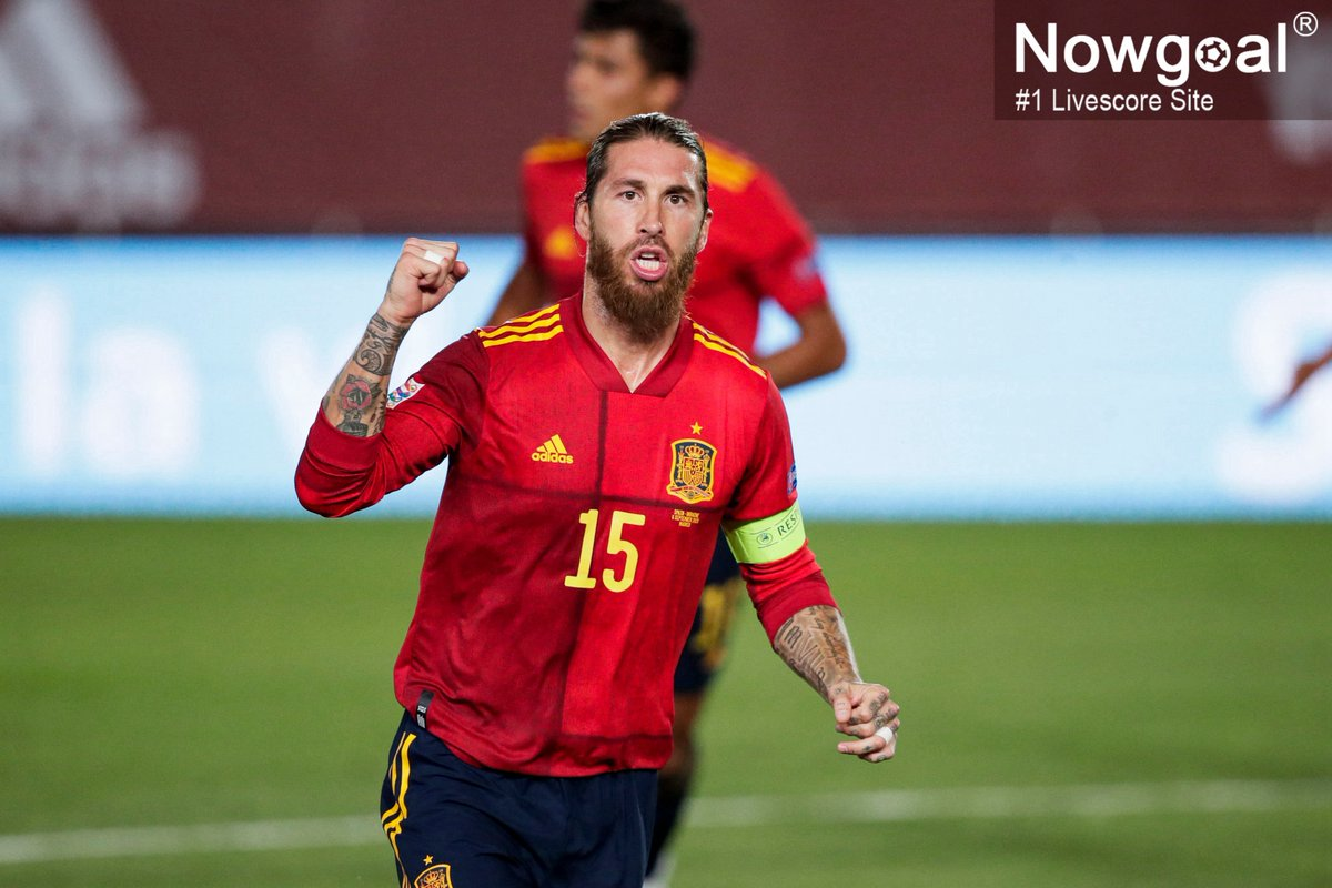 """Nowgoal Livescore on Twitter: """"#NationsLeague: #Spain 1-1 #Switzerland!  #Ramos made 177 appearances for Spain and broke the record, but missed two  penalties. He has never missed a penalty kick in the past"""