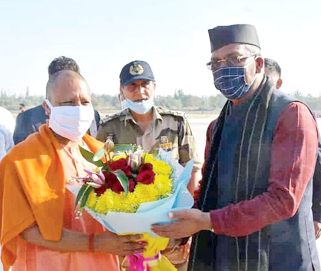 उत्तर प्रदेश के मा० मुख्यमंत्री श्री @myogiadityanath जी का देवभूमि उत्तराखंड में हार्दिक स्वागत एवं अभिनन्दन। योगी जी दो दिवसीय प्रवास के दौरान श्री केदारनाथ एवं श्री बदरीनाथ धाम के दर्शन एवं पूजन करेंगे।