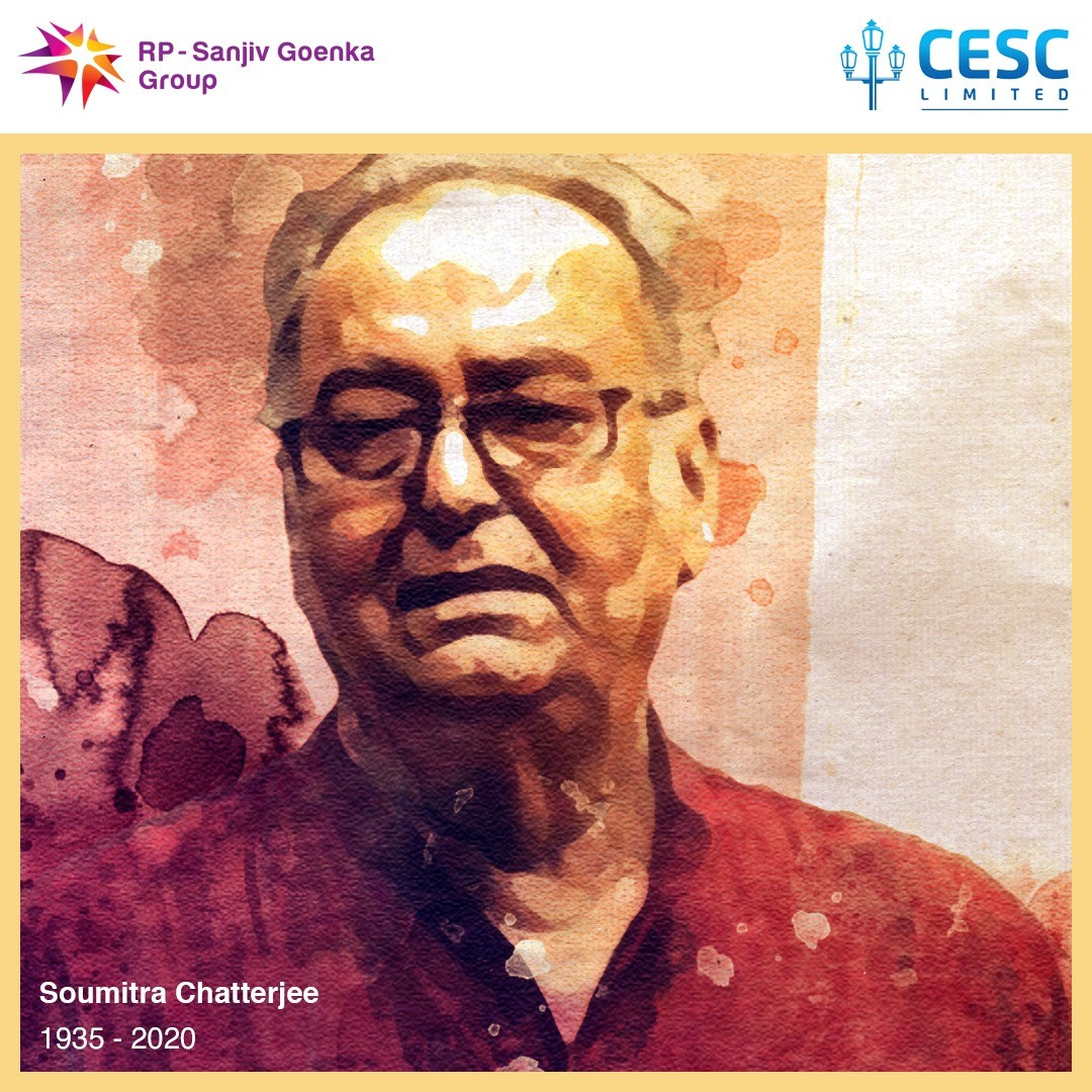 """""""Amar jaowa to noy jaawa. Tutbe agol baare baare tomar dware, Lagbe amay phire phire, phire asar hawa."""" we deeply mourn the passing away of the legend, Soumitra Chatterjee. https://t.co/3Oho4Hq3x1"""