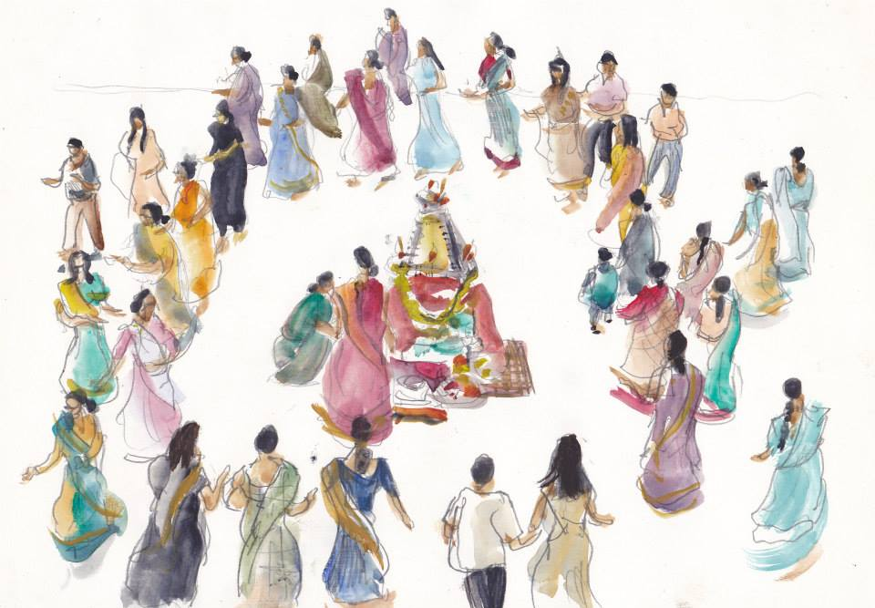 Sketch of the Day: Navratri at Loughborough Town Hall, Leicestershire, 1999 #navratri2020 #charnwood https://t.co/hDMmpkiHoG