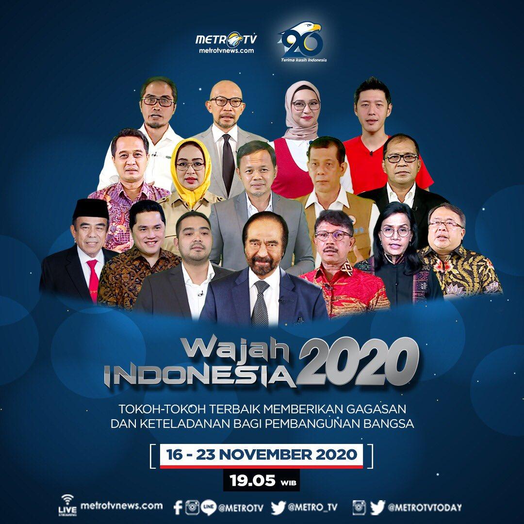 Tokoh-tokoh terbaik akan membagikan gagasan dan pengalaman mereka dalam kontribusinya untuk pembangunan Indonesia. Simak pemaparannya di #WAJAHINDONESIAMETROTV, 16-23 November 2020 pukul 19.05 WIB.  #MetroTV20 #WajahIndonesia #TerimaKasihIndonesia