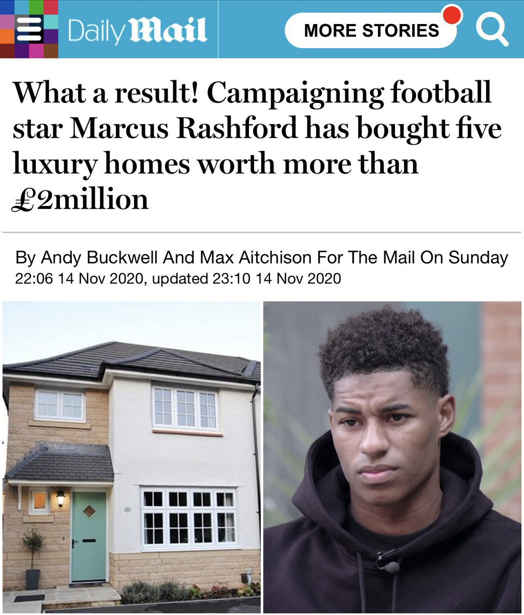 Ok, so let's address this. I'm 23. I came from little. I need to protect not just my future but my family's too. To do that I made a decision at the beg of 2020 to start investing more in property. Please don't run stories like this alongside refs to 'campaigning'.