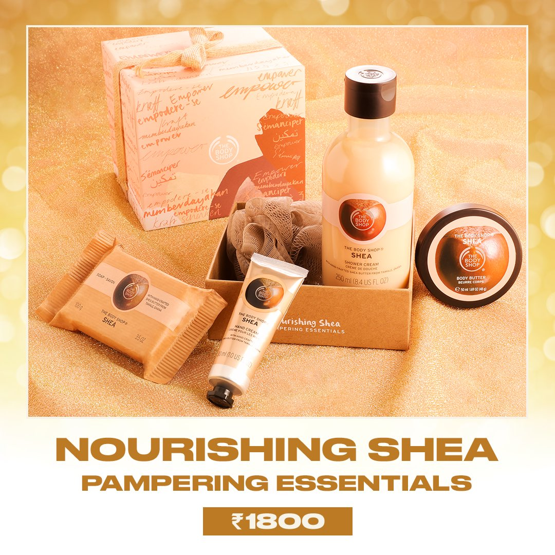 Our Nourishing Shea gift set's perfect for moisturising dry skin with its nourishingCommunity Fair Tradeshea butter.All our gift boxes are available at 25%* off and our icons at up to 50%* off. Shop: Online, in-store or viahomedelivery call +917042004412 #TBSInd #GiveJoy