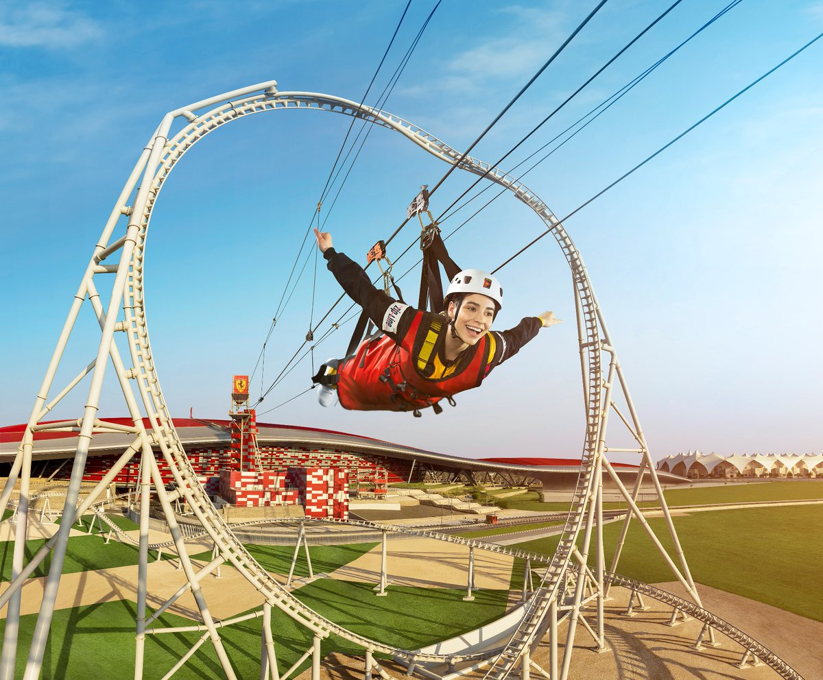 How does experiencing the #FerrariFeeling on the roof of the iconic @FerrariWorldAD sound? The thrilling Roof Walk and Zip Line experiences is a first of its kind experience on Yas Island #InAbuDhabi. Your extraordinary moments are waiting for your, till then #StaySafe https://t.co/5h8rn7Qed3