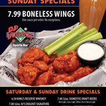 It's NFL Sunday! 😊 DJ's Dugout is THE place to cheer on your team and watch every game LIVE! Boneless Wings or Saucy Nugs.... our fantastic Sunday Specials are the perfect compliment to a day full of Football! 😁🏈